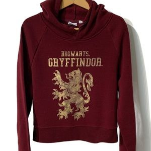 Harry Potter Hogwarts Gryffindor Cropped Hoodie